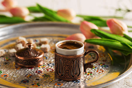 Turkish Coffee and Flowers