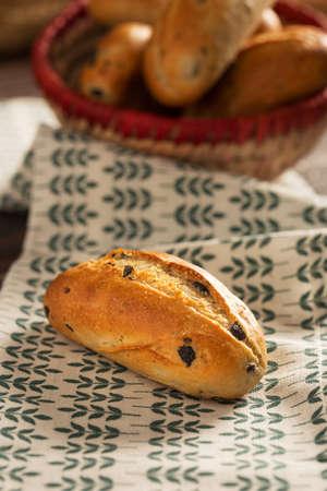 Olive Breads in Wicker Basket