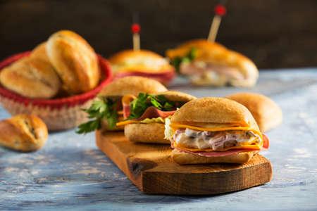Delicious Mini Sandwiches with Homemade Bread