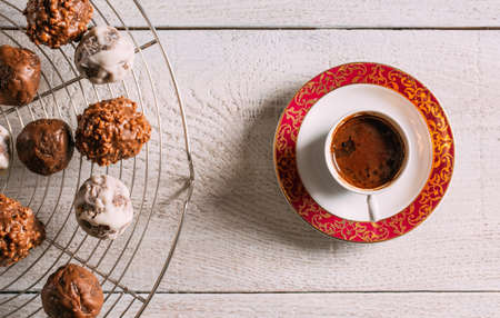Delicious Turkish Coffee and Chocolate Balls
