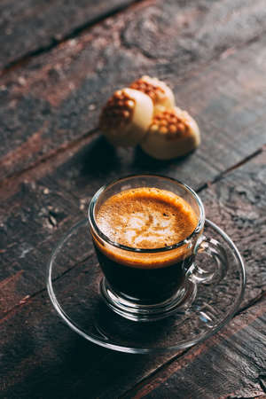 Delicious Espresso Macchiato Stock Photo