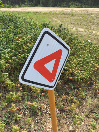 Pedestrian Yield Sign on a Hiking Trail