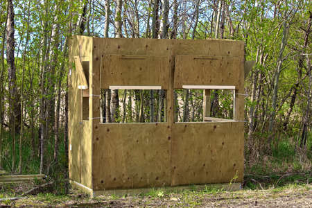 A hunting blind.