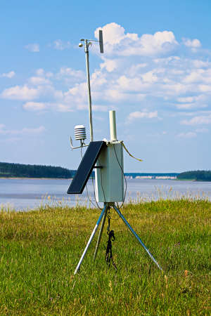 A solar weather station in a remote community.