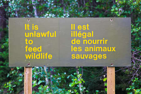 And it is unlawful to feed wildlife sign.