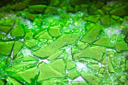 Shards of stain glass candy broken up.