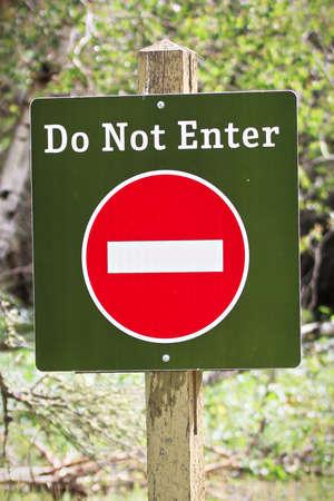 Closeup of a do not enter sign Stock Photo