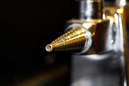 Closeup of a lab gas valve head Stock Photo