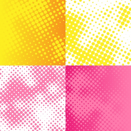 Vector raster bitmap background set Vector