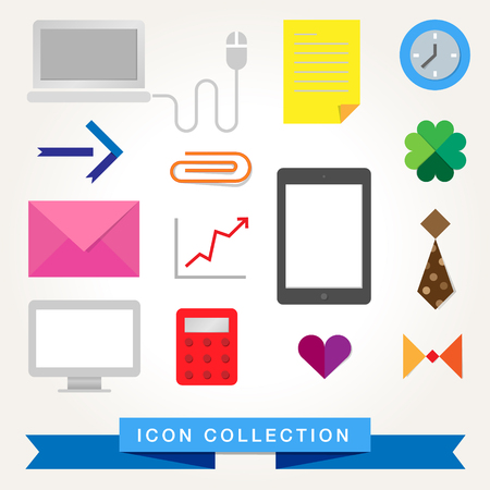 Communication technology devices web icons Vector