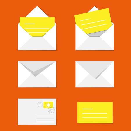 envelope with letter: Busta lettera