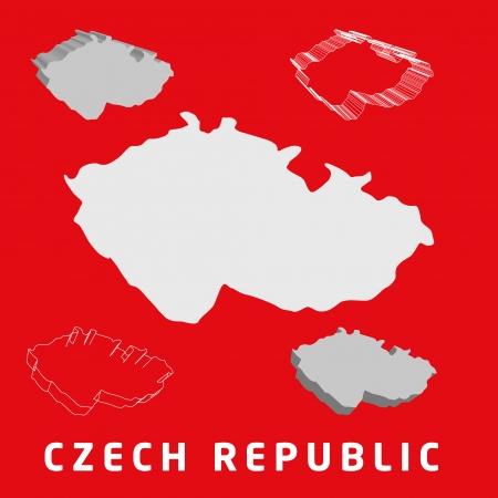 Czech Republic map Ilustração
