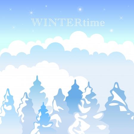 poetic: Winter landscape background