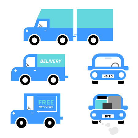 Car icons  Car vector  Cars illustrations  Vehicles  Delivery  Truck  Vector