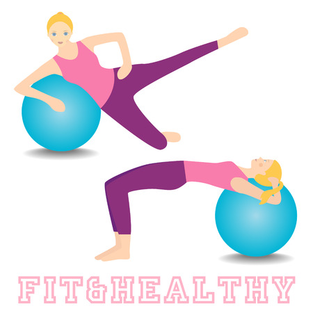 Ball fitness vector collection