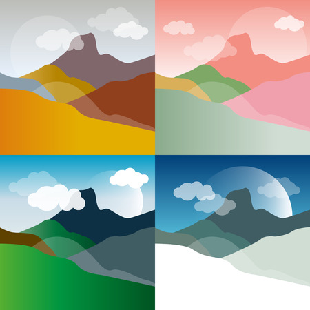 Mountain landscape backgrounds Vector