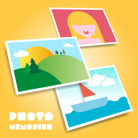 Photo icon vector background Vector