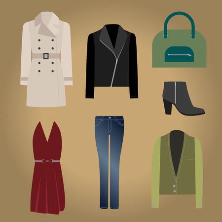 wintermode: Fashion Bekleidung Herbstmode Beauty-und Mode-Lederjacke Winter Mode Woman Mode Illustration