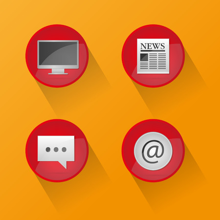 Web icons and buttons Vector