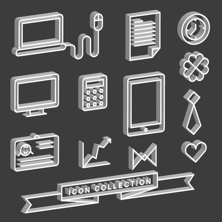 Icons of Communication technology Web icons  Computer icons  Vector