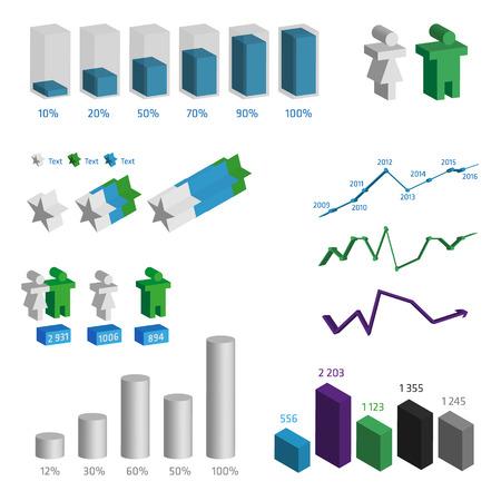 recourses: Infografica Risultati del sondaggio elementi Vettoriali