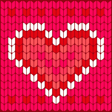 knitted background: Knitted heart  Texture pattern  Knitted background  Knitted valentine background  Wedding concept