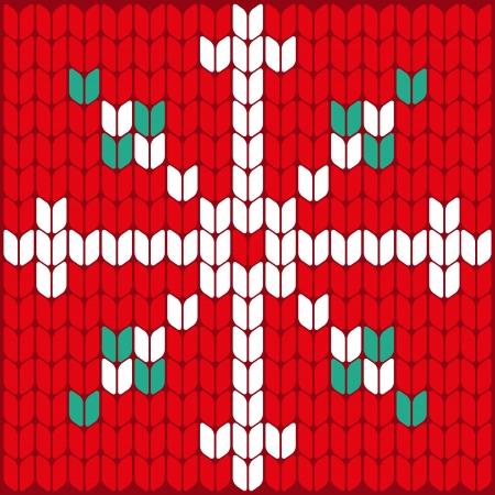 knitted background: Fondo del modelo del modelo del fondo del copo de nieve de vectores Patr�n de la textura copo de nieve hecho punto Textura hecha punto de Vector Vector de punto de punto