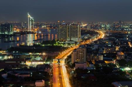 phraya: Road in Bangkok,Thailand