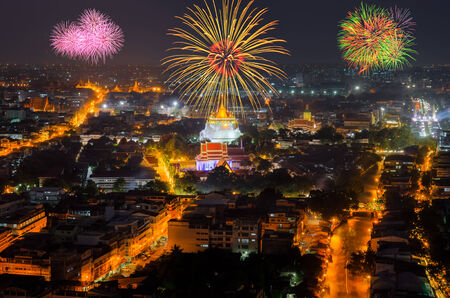 New Year Fireworks in Bangkok ,Thailand photo