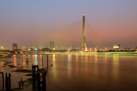 viii: Rama VIII bridge ,Bangkok ,Thailand