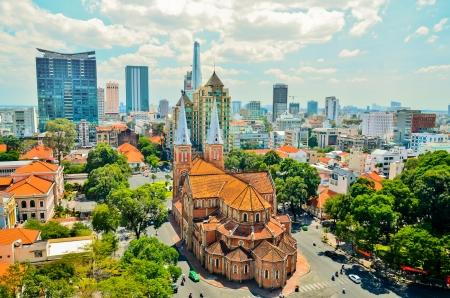 De Notre Dame in Ho Chi Minh stad Stockfoto