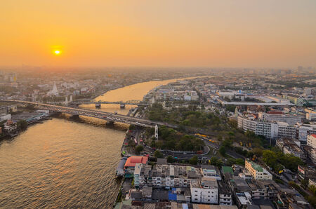 Chao Phraya river,Bangkok,Thailand photo