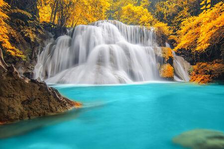 Deep forest Waterfall in Kanchanaburi Stock Photo - 26099698
