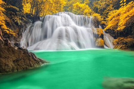 Deep forest Waterfall in Kanchanaburi Stock Photo - 26099699