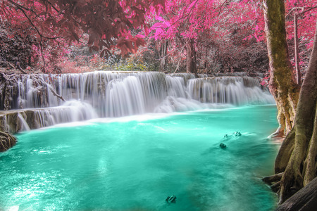 Deep forest Waterfall in Kanchanaburi Stock Photo - 26099702