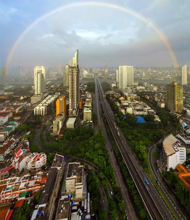 bangkok city: Bangkok city night view with nice sky