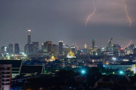 Stroming in de stad Bangkok