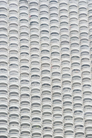 Abstract photo  balconies of the state tower, Bangkok, Thailand photo