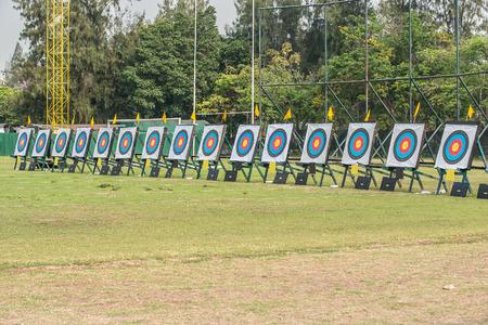 archery: Many archery targets