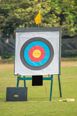 One archery target photo