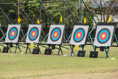 failed attempt: Five archery targets