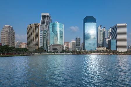 diminishing perspective: Highrise modern building in Bangkok, Thailand