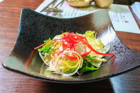 korean salad: korean salad Stock Photo