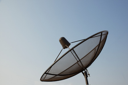 antena parabolica: Gran antena parab�lica negro