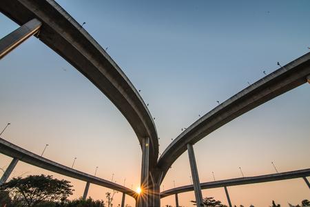 elevated: Elevated expressway bridge, Thailand  Stock Photo