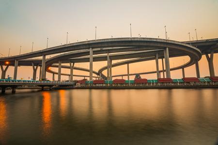 interchange: Elevated expressway bridge, Thailand  Stock Photo