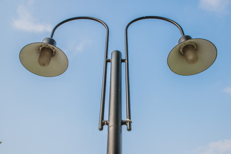 electric avenue: Street lamp and blue sky
