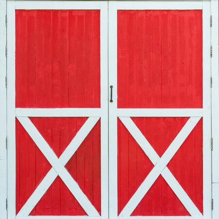 red door: old barn
