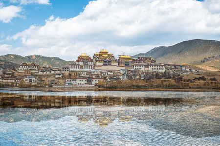 potala: Songzanlin - Tibetan Monastery in Shangrila, Yunnan, China
