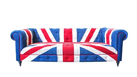 union jack: Union jack sofa isolate on white background with clipping path